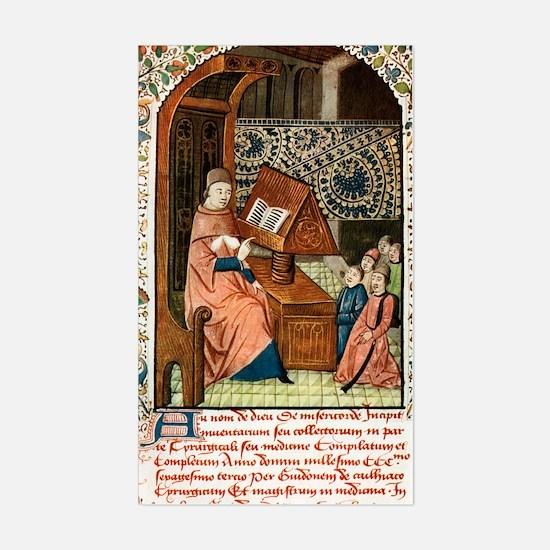 Guy de Chauliac, French surgeo Sticker (Rectangle)