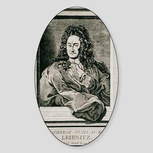 Gottfried Wilhelm Leibnitz, German  Sticker (Oval)