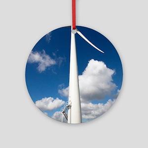 Wind turbine, Netherlands Round Ornament