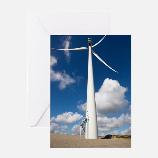 Wind turbine, Netherlands Greeting Card
