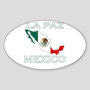 La Paz, Mexico Oval Sticker