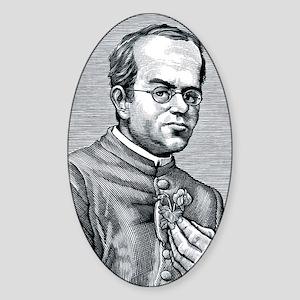 Gregor Mendel, Austrian botanist Sticker (Oval)