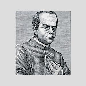 Gregor Mendel, Austrian botanist Throw Blanket