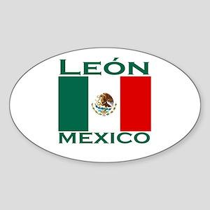 Leon, Mexico Oval Sticker