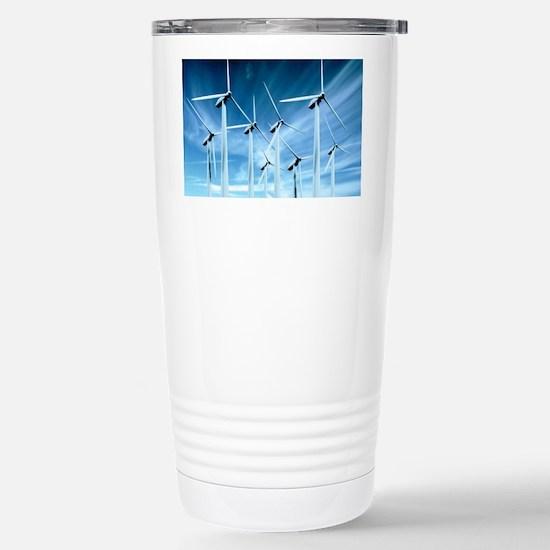 Wind turbines Stainless Steel Travel Mug
