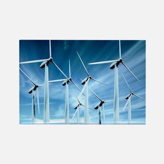 Wind turbines Rectangle Magnet