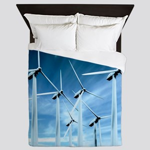Wind turbines Queen Duvet