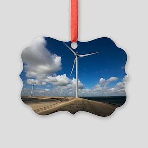 Wind turbine Picture Ornament
