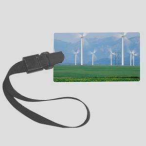 Wind turbines Large Luggage Tag