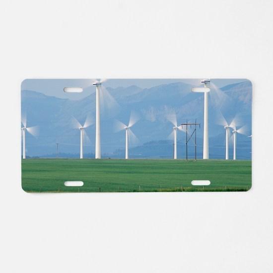Wind turbines Aluminum License Plate