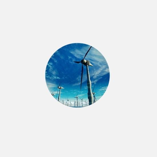 Wind power, artwork Mini Button