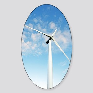Wind turbine, Denmark Sticker (Oval)