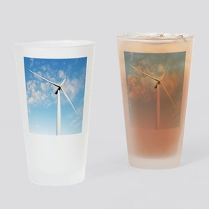 Wind turbine, Denmark Drinking Glass