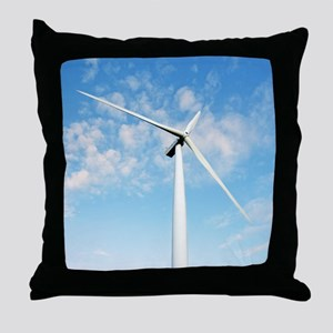 Wind turbine, Denmark Throw Pillow