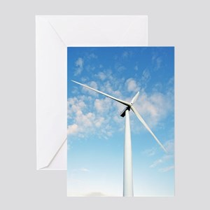 Wind turbine, Denmark Greeting Card