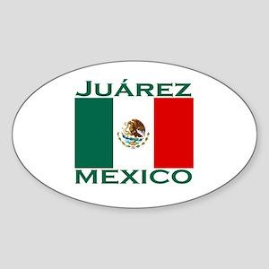Juarez, Mexico Oval Sticker