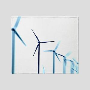 Wind turbines Throw Blanket