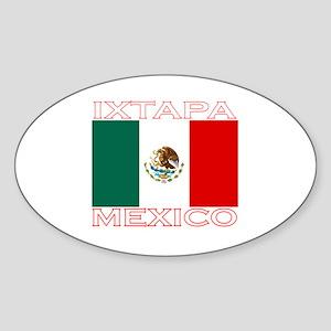 Ixtapa, Mexico Oval Sticker