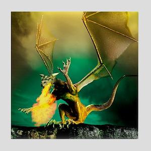Winged dragon Tile Coaster