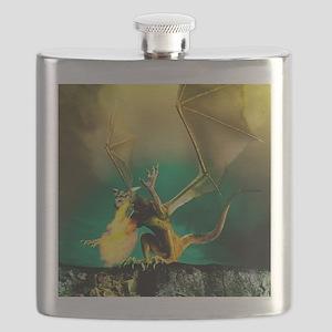 Winged dragon Flask