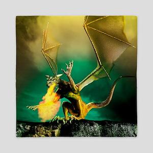 Winged dragon Queen Duvet