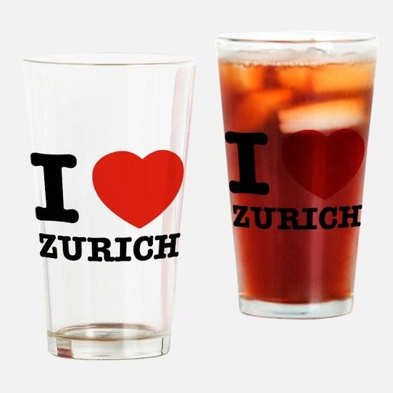 I LOVE zURICH Drinking Glass