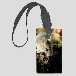 Wood mouse Large Luggage Tag