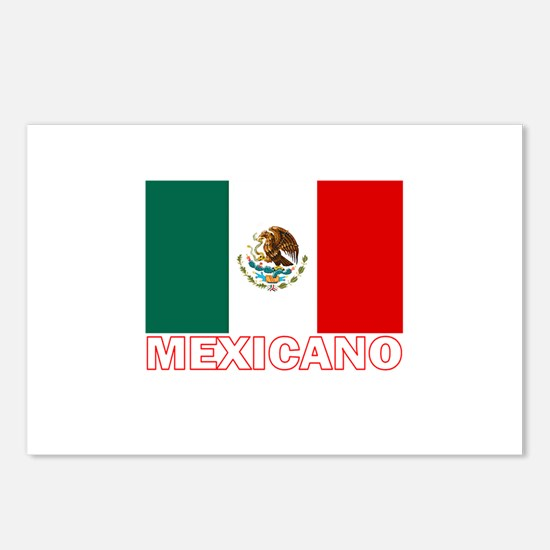 Mexicano Flag (Dark) Postcards (Package of 8)