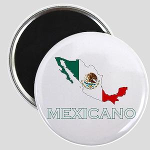 Mexicano Map (Dark) Magnet
