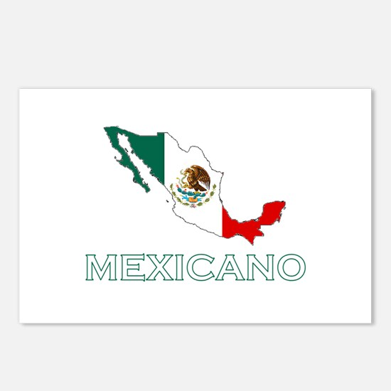 Mexicano Map (Dark) Postcards (Package of 8)