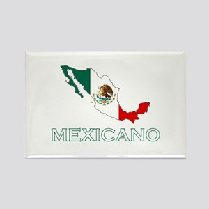 Mexicano Map (Dark) Rectangle Magnet