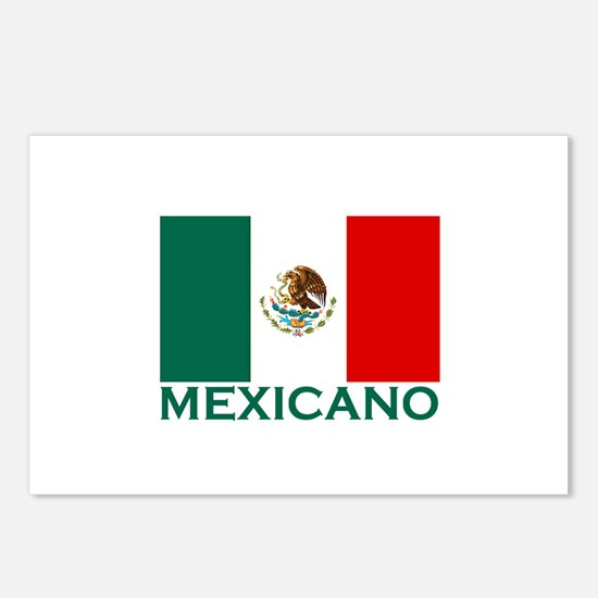 Mexicano Flag (Light) Postcards (Package of 8)