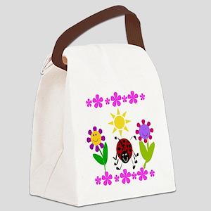 Ladybug Summer Canvas Lunch Bag