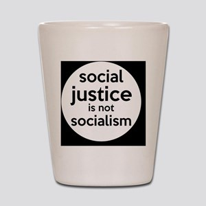 socialjusticebutton Shot Glass
