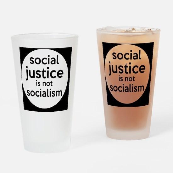 socialjusticebutton Drinking Glass