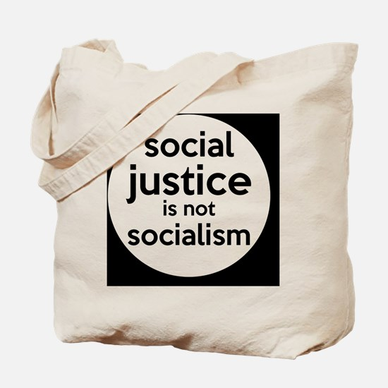 socialjusticebutton Tote Bag