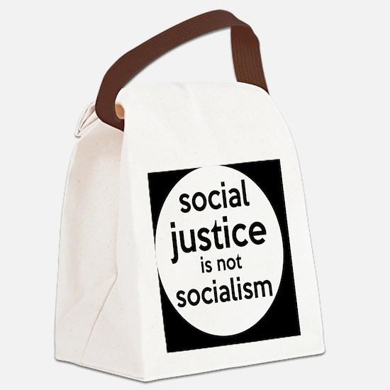 socialjusticebutton Canvas Lunch Bag