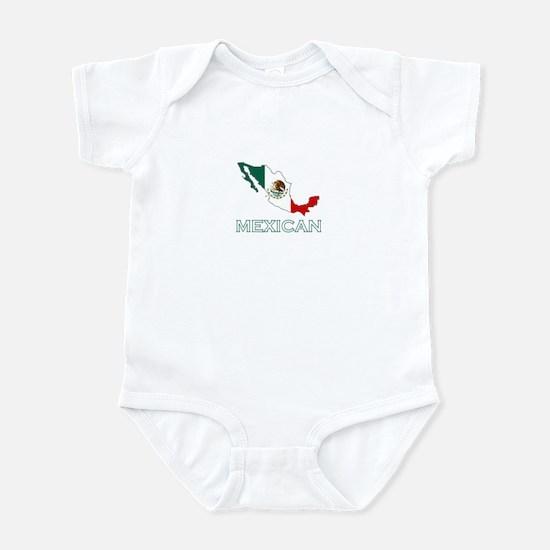 Mexican Map (Dark) Infant Bodysuit