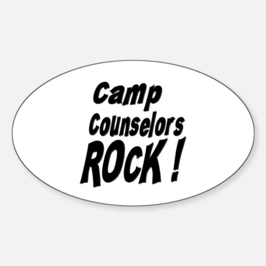 Camp Counselors Rock ! Oval Decal