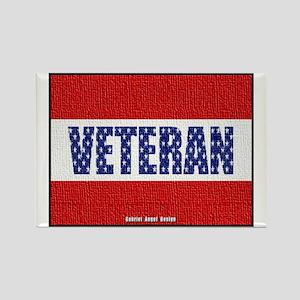 Veteran Flag Banner Rectangle Magnet
