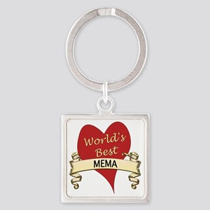 Mema Square Keychain