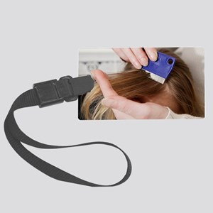 Head lice combing Large Luggage Tag