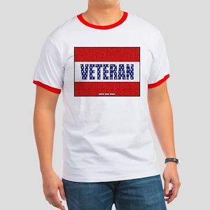 Veteran Flag Banner Ringer T