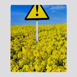 Hay fever, conceptual image Throw Blanket