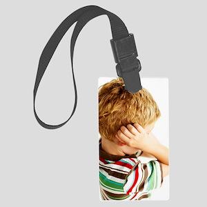 Head lice Large Luggage Tag