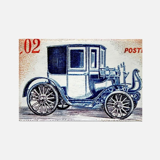 1961 Monaco 1898 Peugeot Postage  Rectangle Magnet