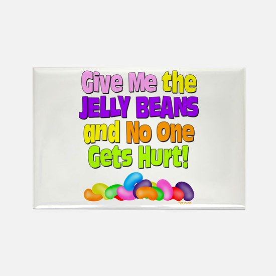 Give me the Jelly Beans Rectangle Magnet