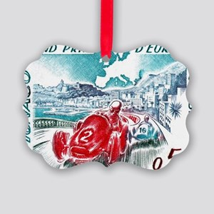 1963 Monaco Grand Prix Postage St Picture Ornament