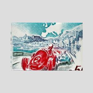 1963 Monaco Grand Prix Postage St Rectangle Magnet