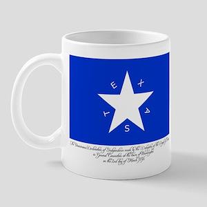 Texas Flag with Declaration Mug
